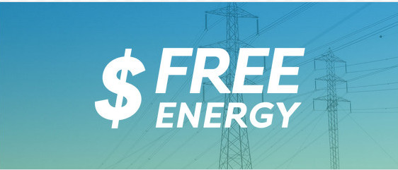 Blue image with pylons in the background and the words '$ FREE ENERGY' to signify 19 MLM companies we reviewed and recommended in 2019