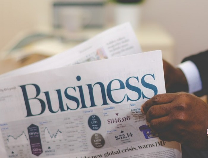 Business written on a newspaper front page to signify any other business