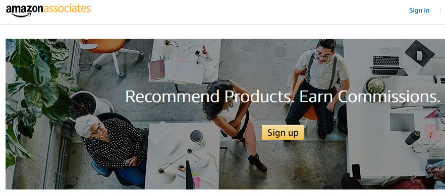 Amazon associates' recommended products. Eran commission