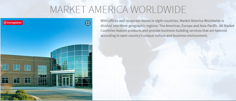 Company headquarters building with title 'Market America Worldwide' for Market America review