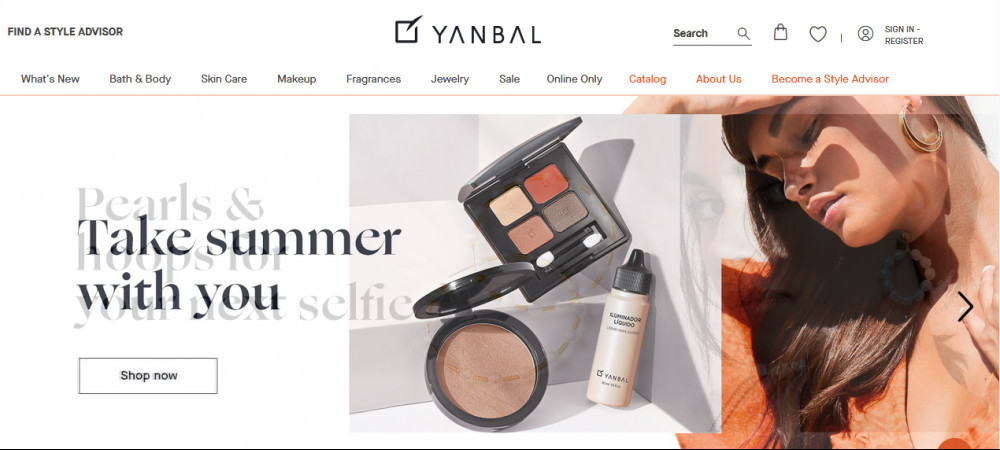 Yanbal products showing mascara with the words 'take summer with you'