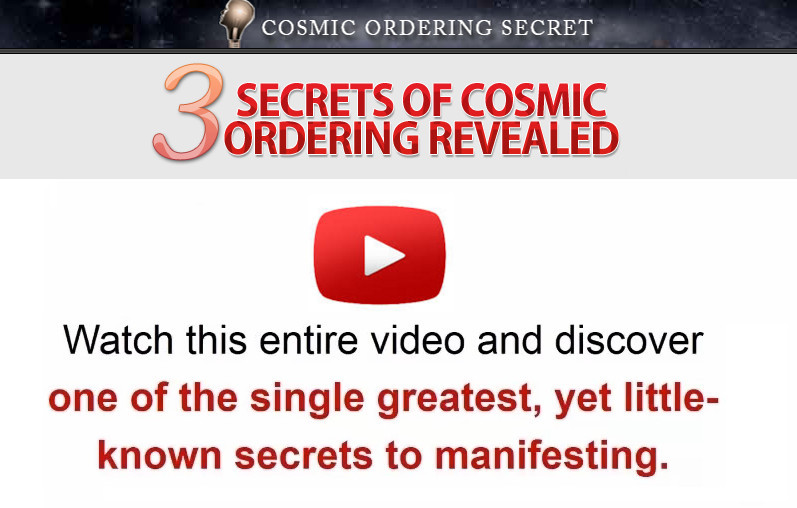 what is cosmic ordering secrets about