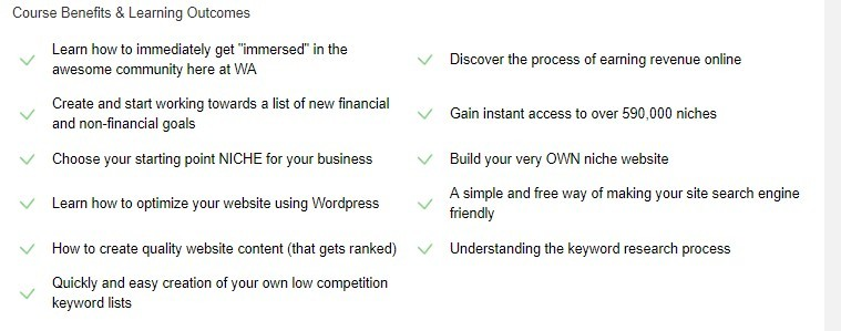 Highlights of The Wealthy Affiliate Online Certification Course Including Website Optimization