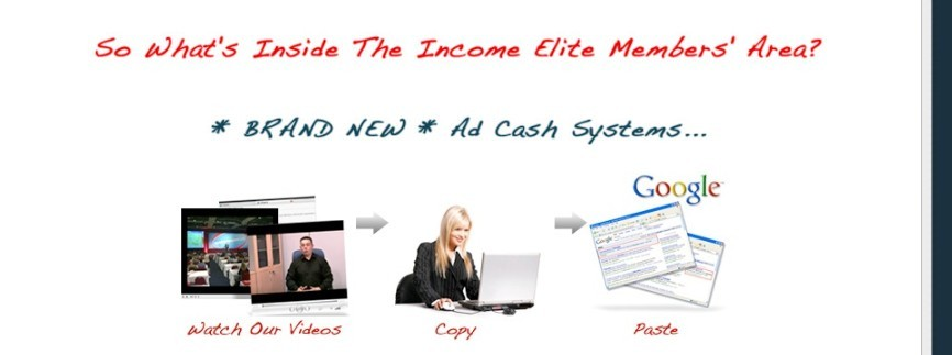 The Income Elite Team Image Displaying The Copy And Paste Method