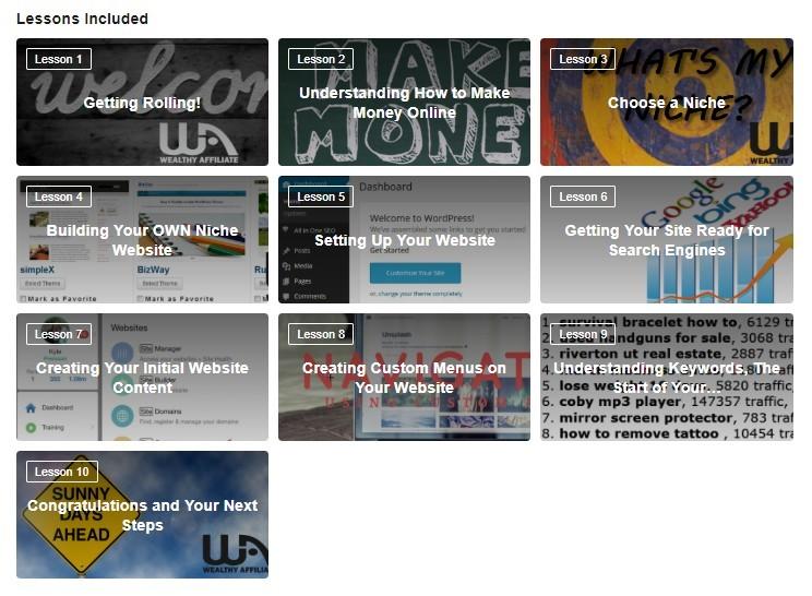 Wealthy Affiliate 10 lesson Online Entrepreneur Certification Course