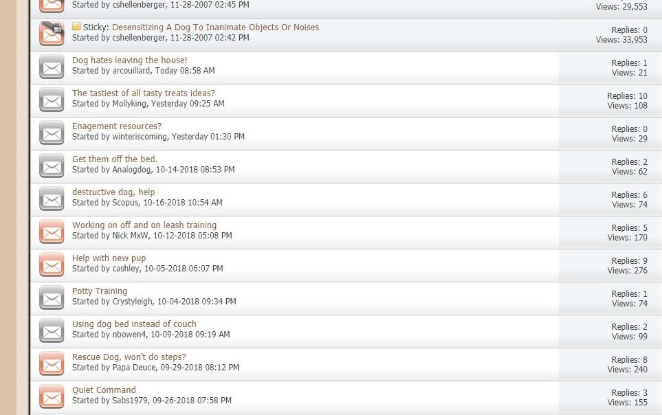 niche forum results