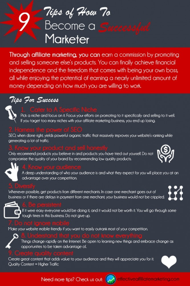 successful affiliate marketer infographic