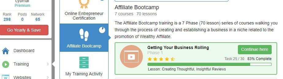Affiliate Bootcamp Screenshot