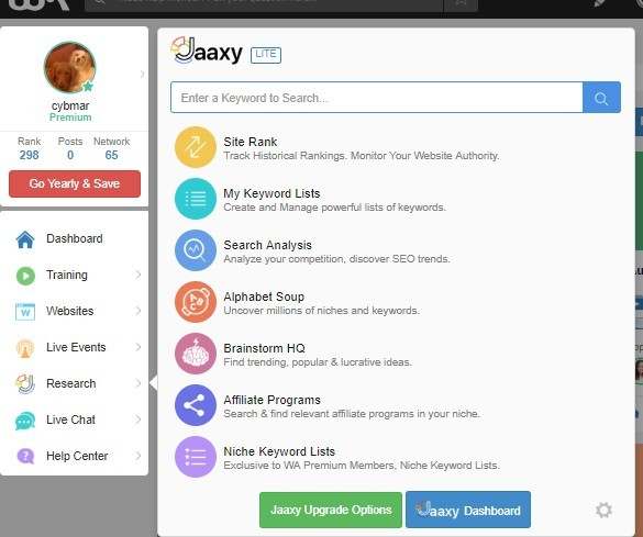 Jaxxy services available to Wealthy affiliate premium members