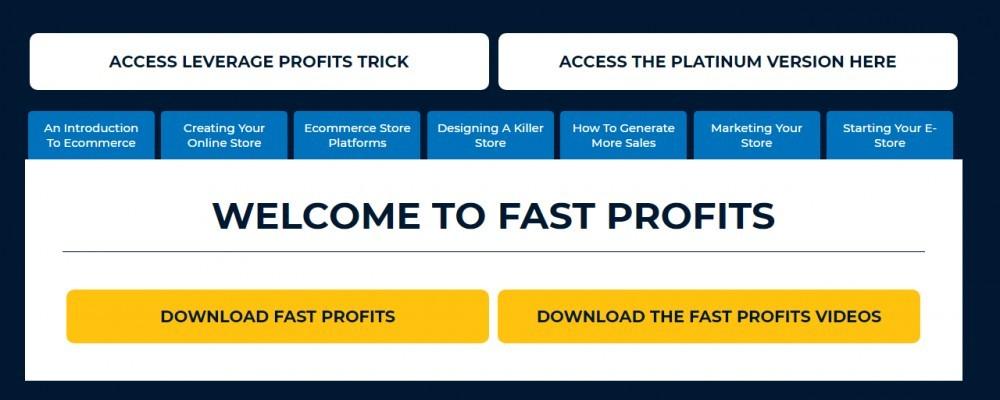 Fast Profits Membesr Area