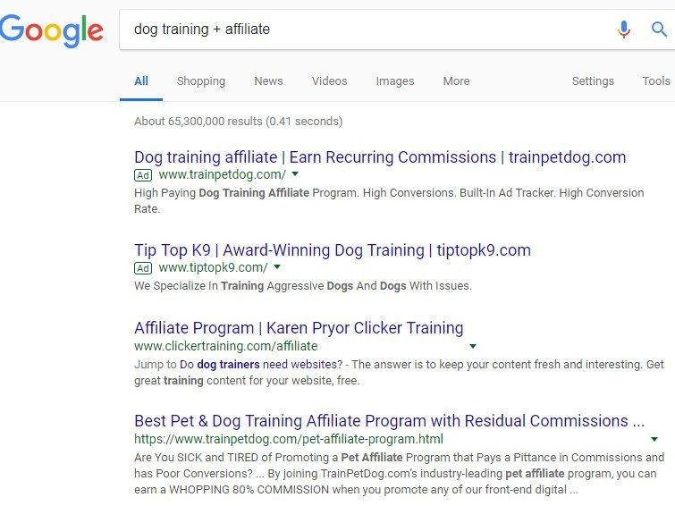dog training affiliate programs