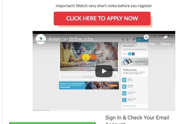 american online jobs screenshot