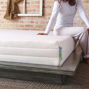 best latex mattress - pure green mattress image