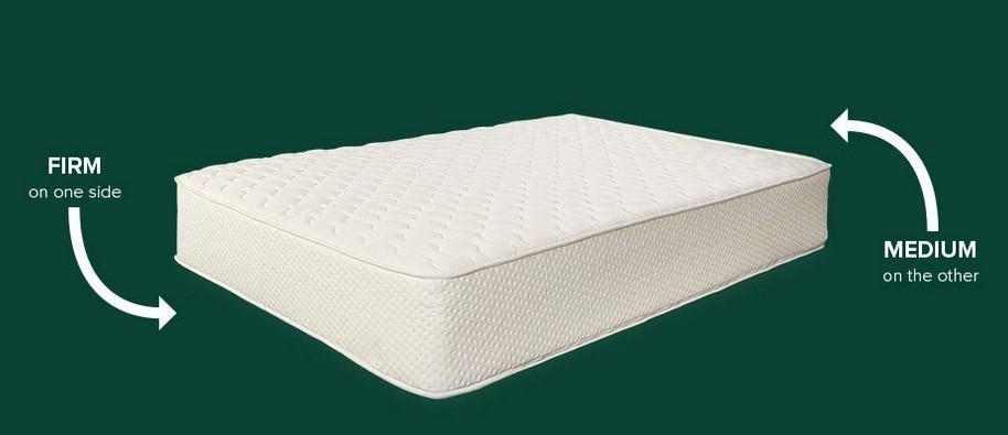 the latex for less mattress is flippable