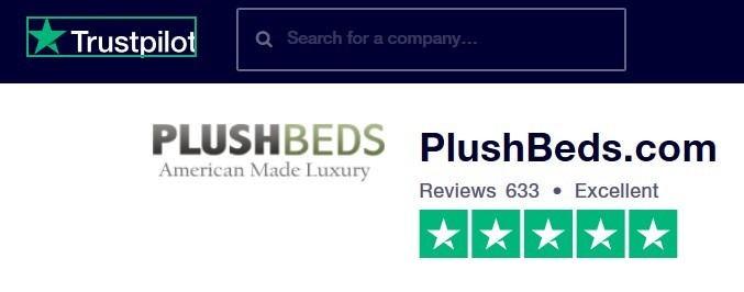 plushbeds trustpilor rating