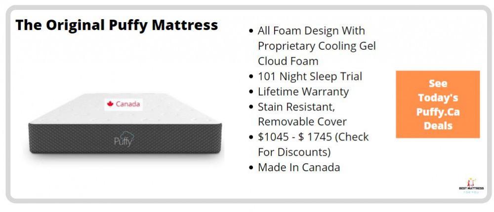 Puffy Mattress Canada - Original Mattress