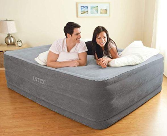 couple on an air mattress