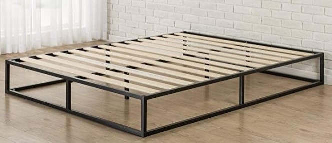 platform bed frame example with modern look