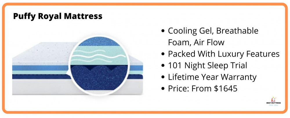 Best Cooling All Foam Mattress - Puffy Royal