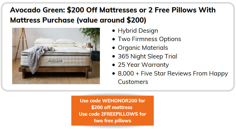 Memorial Weekend Mattress Sales - Avocado