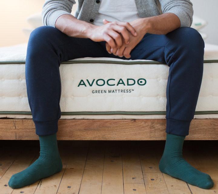 best latex mattress - avocado green image