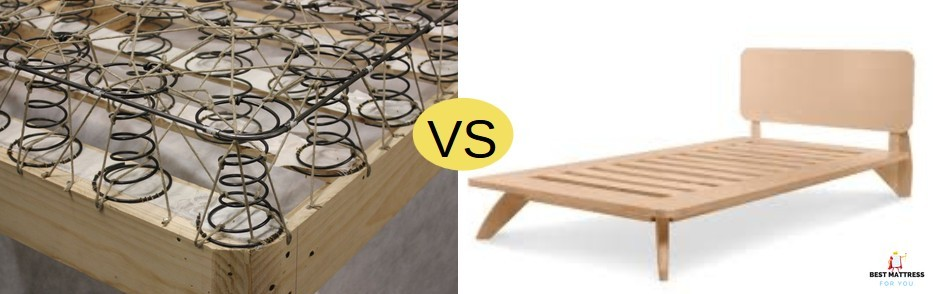 box spring vs platform bed frame cover image