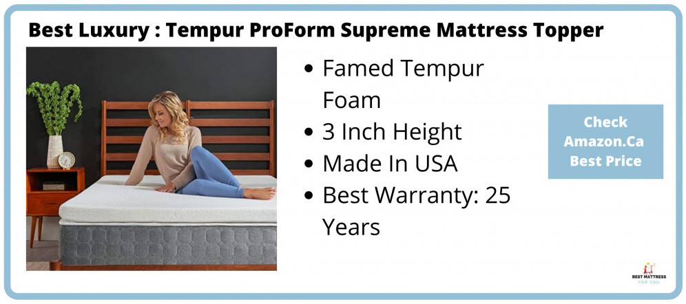 Best Luxury Topper - Tempur