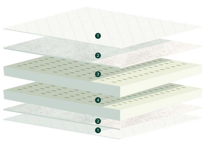 latex for less mattress cross section
