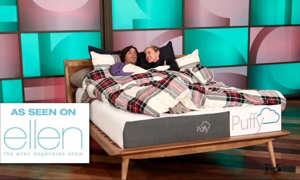 puffy mattress on the ellen show