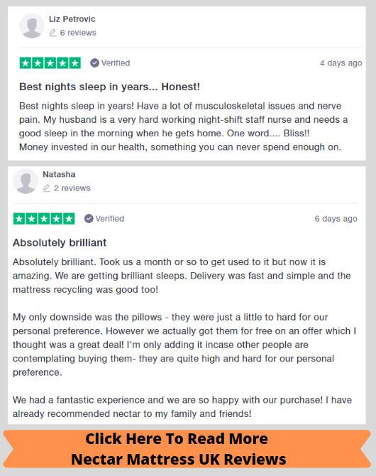 Nectar Mattress UK - Reviews Examples