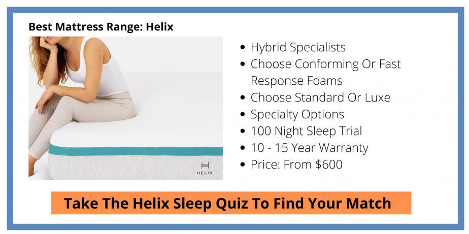 Best Mattress Range - Helix