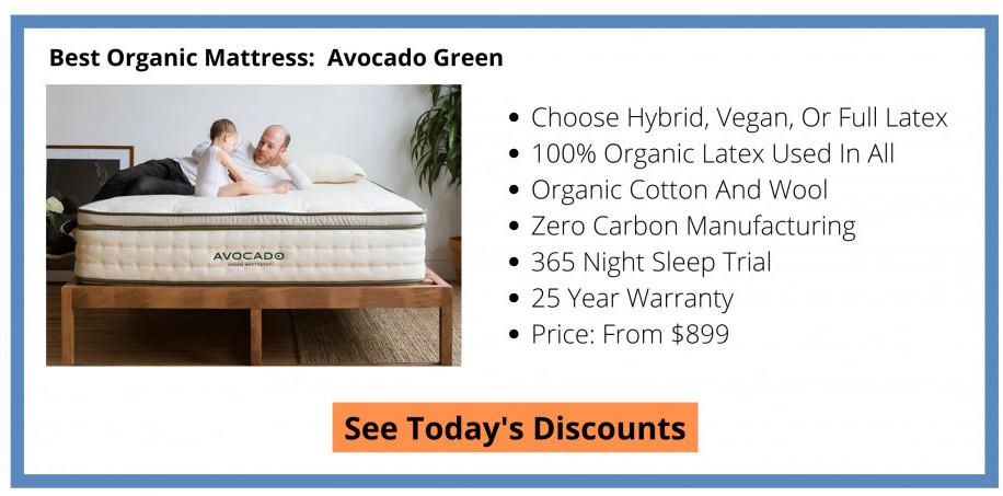 Best Organic Mattress - Avocado Green