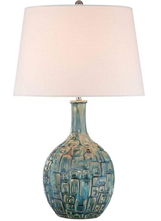 Mid Century Modern Teal Lamp