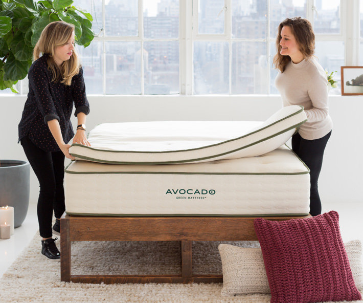 Mattress pad vs topper - topper on bed