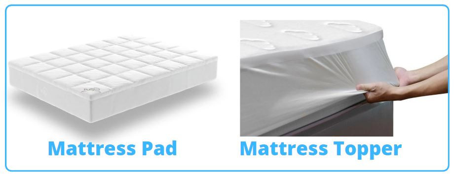 Puffy Mattress Pad And Topper Side By Side