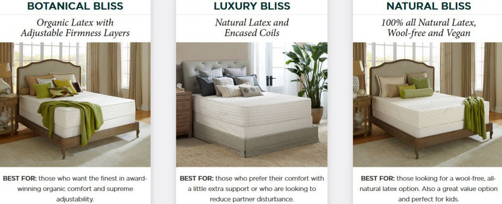 plushbeds organic latex mattress range