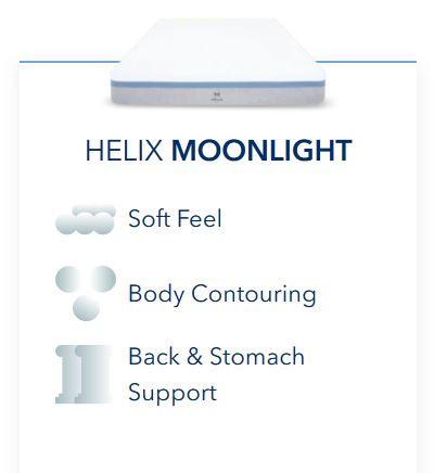 Helix Moonlight Mattress Review - Feel and Support Description