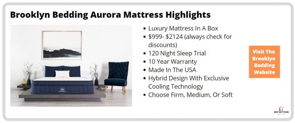 Brooklyn Aurora Mattress Review - Cover Image