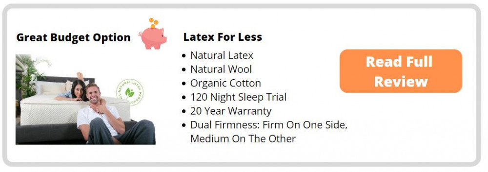 Latex For Less Hypoallergenic Mattress