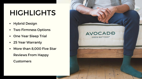 Avocado Green Mattress Highlights