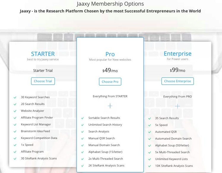 Jaaxy Research Platform