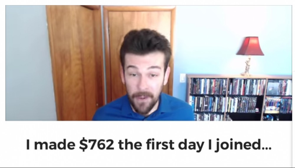 guy claiming to make $700 first day of joining
