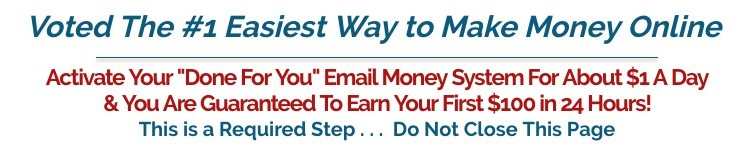 example of a website claiming easy way to make money online website