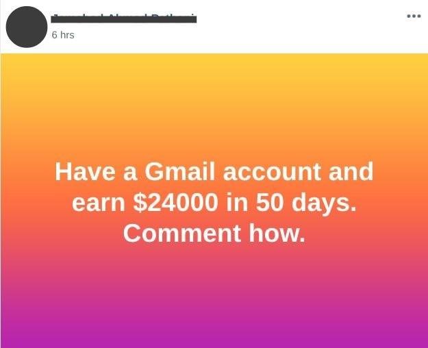a post regarding make money online from facebook