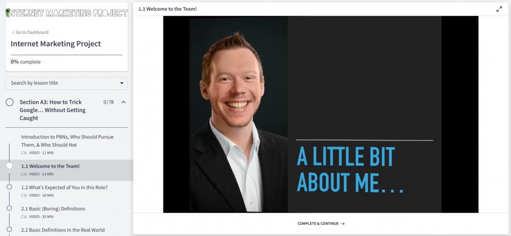 Ian Pribyl internet marketing project