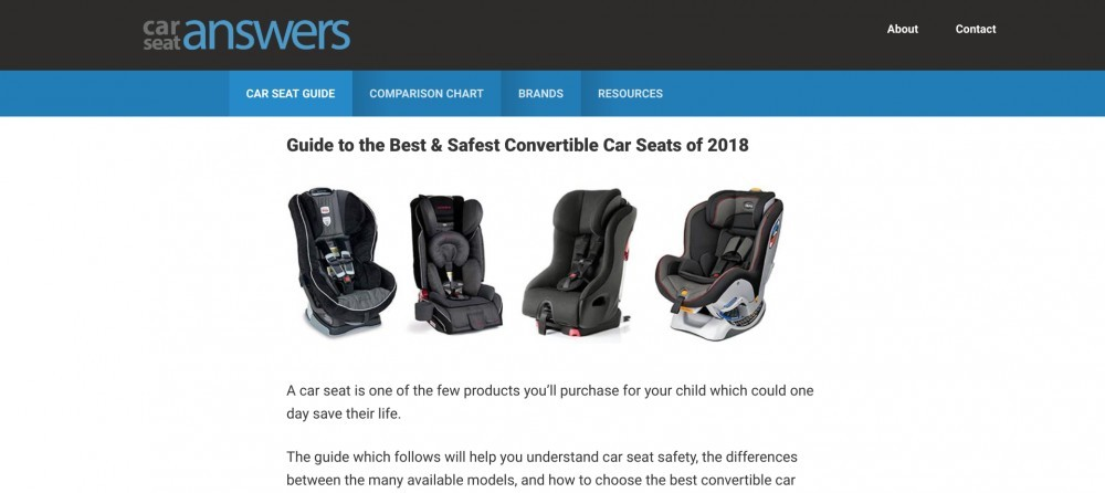 car seat answers website homepage
