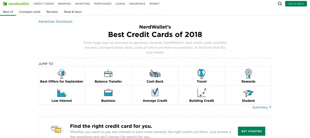 nerd wallet best credit cards of 2018
