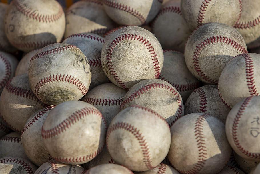 stack of baseballs