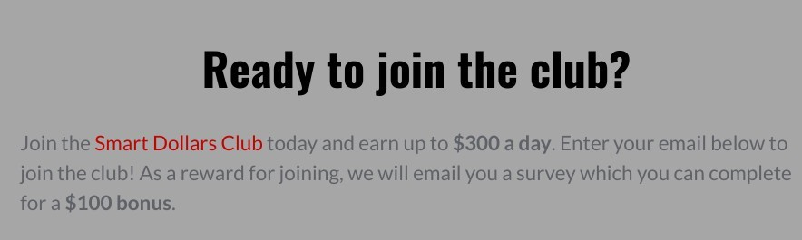 $300 smart dollars club