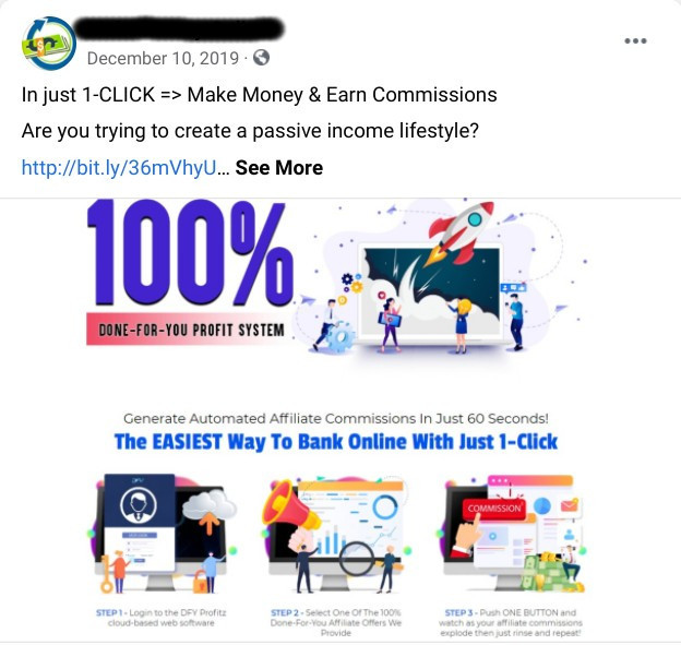 facebook make money scam